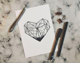Heart Terrarium Print