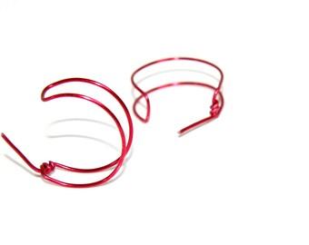 Red Bow earrings - aluminum