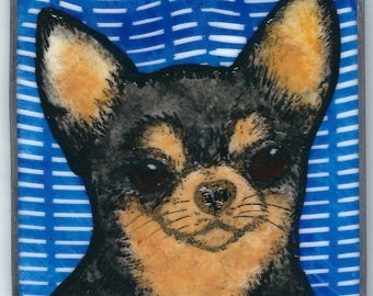 Stained Glass Dog Suncatcher Chihuahua  JRN260