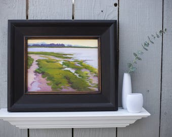 Plein Air Painting painted in northern California | Plein Air | Signed oil painting | Landscape | Colorful painting titled After the Rain.