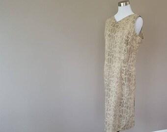 16 / Liz Claiborne / Dress / Reptile Print / Tan / Taupe / Large/Extra Large