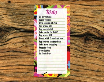 Notepad, (DL) to do notepad, office notepad, office gift, gift for a loved one, motivational notepad, 50 page notepad, weekly desk planner