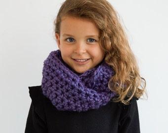 Kid's Purple Everyday Circle Scarf in Purple