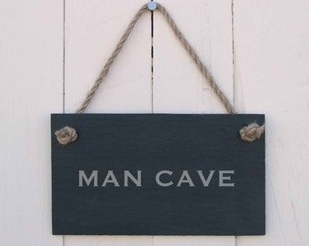 Slate Hanging Sign 'MAN CAVE' (SR164)
