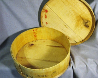 Cheese Box/ Vintage Wooden Cheese Box,  Cheese Box,  Rustic Cheese Box