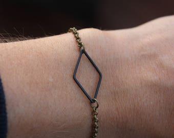 Bracelet tout simple minimaliste lozange // geometrique (BR-65)