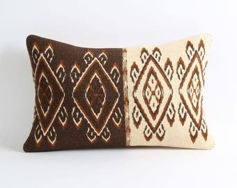kilim cushion, brown kilim pillow, kilim, bohemian pillow, decorative pillow, kilim pillow cover, pillow, turkish pillow, kilim cushions