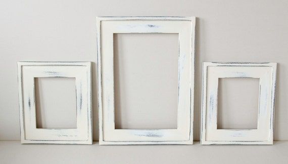 Items similar to 3 beautiful distressed frames 2) 8x10 chunky 1 ...