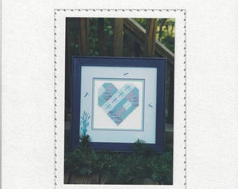 """Clearance - """"A Dragonfly Heart"""" Counted Cross Stitch Chart by Sekas & Co."""