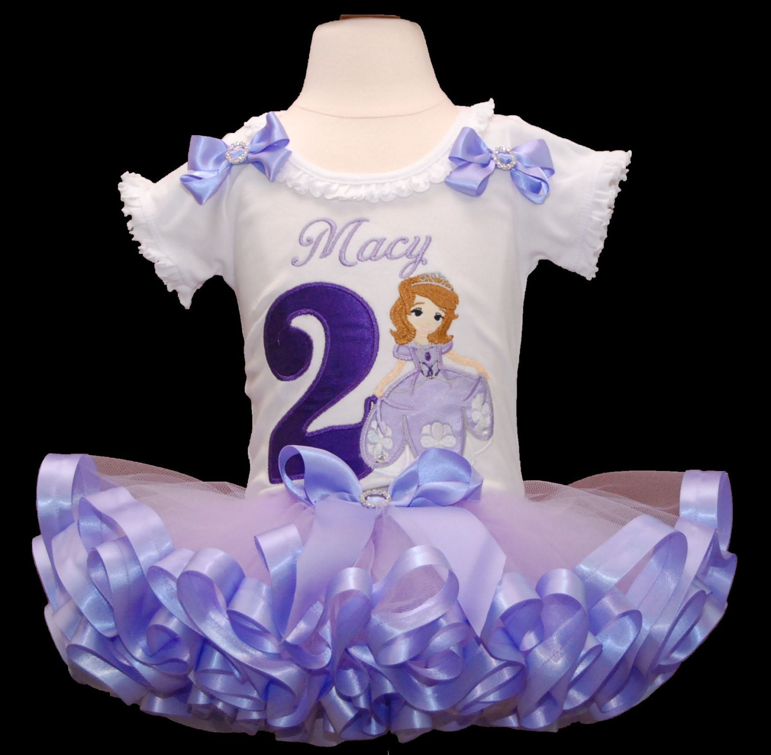 Birthday Tutu Outfit Princess Sofia Dress 2nd Outffit 2 Year