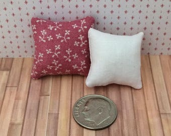 One Inch Scale Set of Mauve Pillows - 12