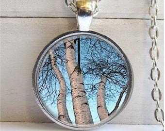 Tree Necklace, Birch Tree Pendant, Art Pendant, Tree Branch Necklace