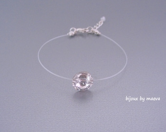 Jewelry transparent string bracelet and wedding crystal rhinestone