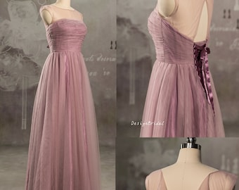 Simple Tulle Prom Dress