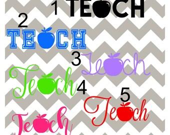 Teacher Decal, Apple Teacher Decal, Teacher Appreciation Gift, Teacher, Personalized Teacher Decal, Teacher YETI Decal, Teacher RTIC Decal