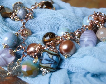 Sky's The Limit: Charm Bracelet and Earrings Set