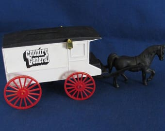 ERTL COIN BANK Country General Horse and Wagon