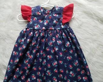 SALE! Blue floral dress