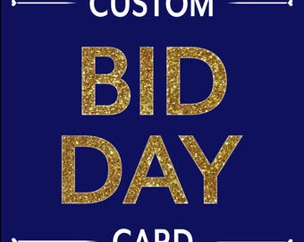 Custom Order: Bid Day Card