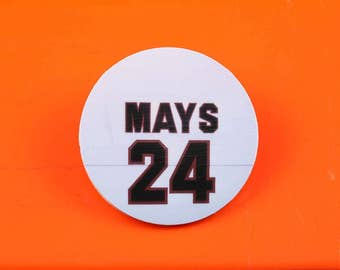 Willie Mays Number 24 Magnetic Pin from Candlestick Park - PhotoWare