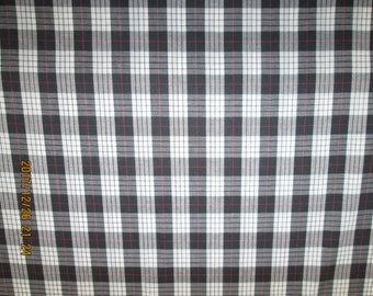 ENGLISH TARTAN  FABRIC  Griffin Design  Multi Colores  pattern  1 Yard -  Polyo / Cotton  Blend Fabric
