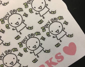 Pay Day Buddy Stickers