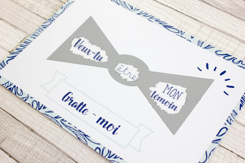 Annonce Témoin Mariage destiné demande témoin de mariage homme carte postale à gratter