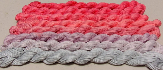 Big Girls Don't Cry- 100 Organic Cotton, Hand Dyed Fingering Weight Ombre Yarn