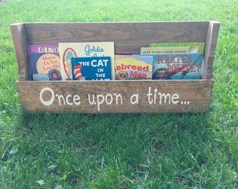 Kids Bookshelf, Wood Bookshelf, Rustic Bookshelf, Hanging Bookshelf, Wall Bookshelf, Wall Mounted Bookshelf, Pallet Bookshelf, Magazine Rack