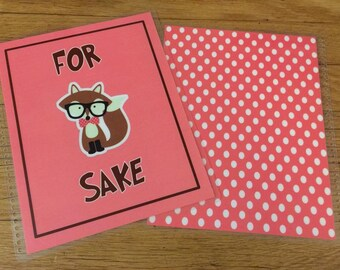 Front and Back Cover Set *For FOX Sake* for use with Erin Condren or Happy Planner