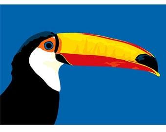 toucan print, 12.5 x 9