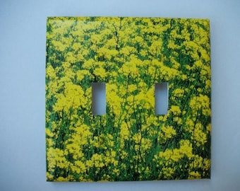 SWITCH PLATE COVER - Flower Fields