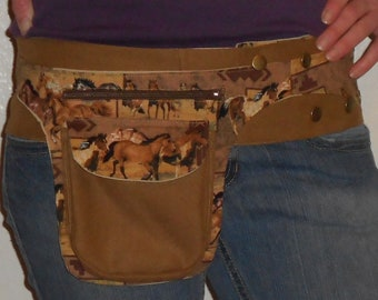 Horses Hippie Sack