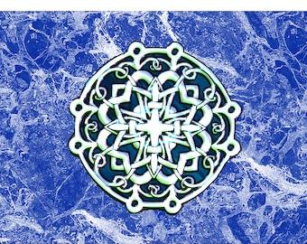 Celtic Marble Laptop Skin Fabric Sticker