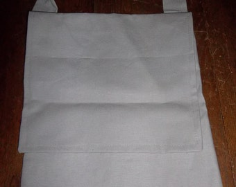 Haversack in grey cotton canvas