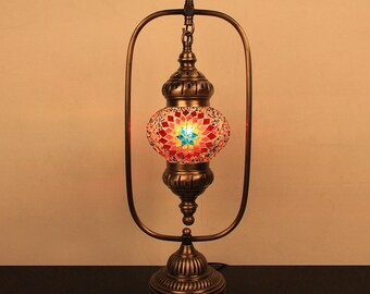 Turkish Moroccan World Mosaic Glass Lamp 5u0027u0027 1 Ball , Bedside Lamp Light  With