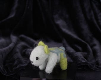 Doggo needle-felt creature