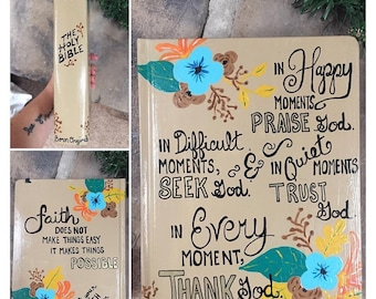 Hand Painted ESV Journaling Bible