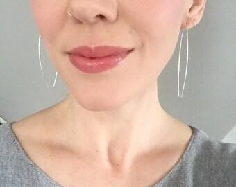 Sterling Silver Open Ellipse Earrings