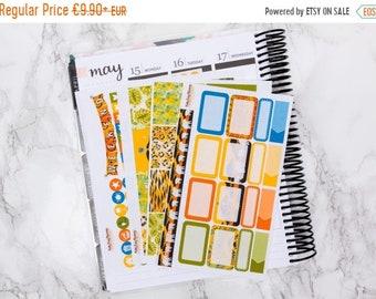 ON SALE -25% African Dreams Mini planner sticker kit  - Erin Condren sticker kit - vertical sticker kit - weekly planner kit - Safari - Elep