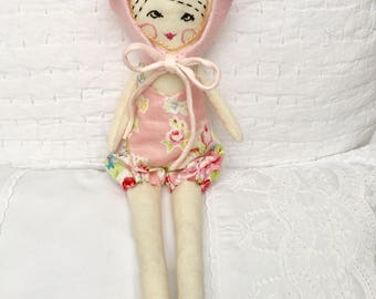 Handmade Ragdoll - Baby Shower - Nursery Decor Girls - Gift for Her - Gift for Girls - Pretty Ragdoll