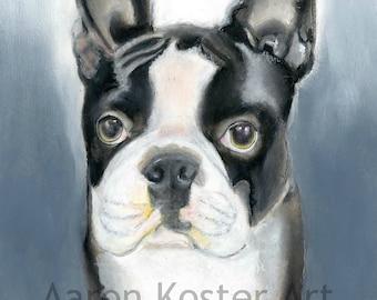 Boston Terriers, Boston Terrier art, Boston Terrier Lover, Boston Terrier painting