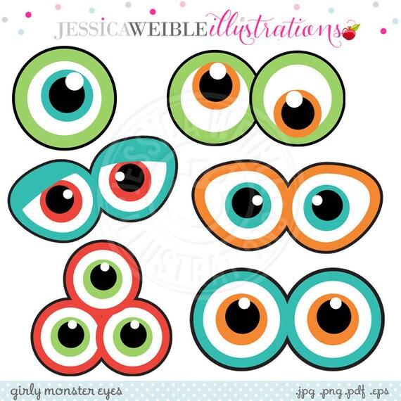 monster eyes cute printable birthday party favors printable rh etsy com clipart monster high monster high logo clip art
