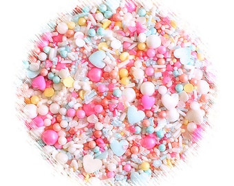 Sprinklefetti Candy Shop Sprinkles Mix, Candy Shop Sprinkles, Edible Sprinkles, Candy Sprinkles, Pastel Sprinkles, Heart Sprinkles