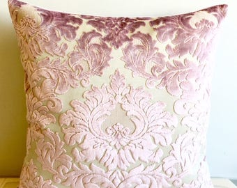 Pink Velvet Pillow Cover, Pillow Velvet, 18X18 Pink Pillow, Designer Pillow, Velvet Pillows, Velvet Cushion Covers, Pink Sofa Pillow