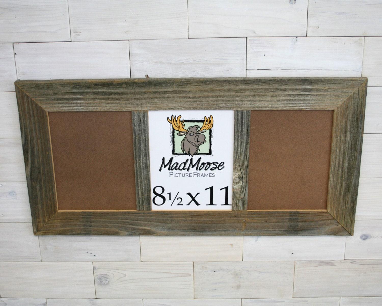 3 pane 8.5x11 BarnWood [Thin x 3\