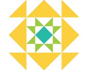 Quilt Block Collection Pattern - Sunshine Picnic