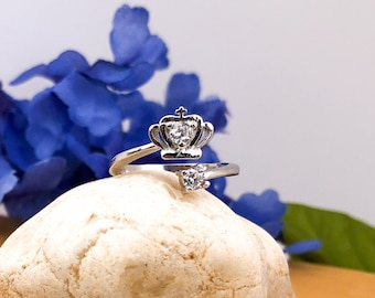 Queen Crown Sterling Silver Ring
