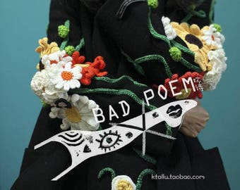 BadPoem/handmade flower coat