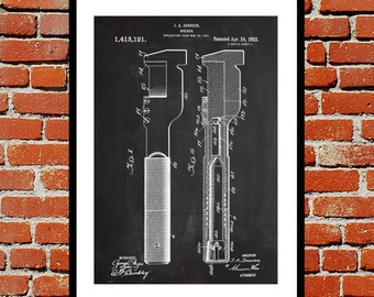 Wrench Poster, Wrench Print, Wrench Patent, Wrench Decor, Wrench Art, Toolbox Art, Wrench Wall Decor, Toolbox Design